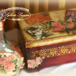 retro wintage decoupage